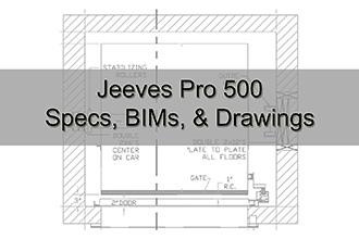 Jeevs Pro 500 Specs, BIMs, & Drawings